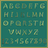 Golden Alphabet. Vector Illustration Royalty Free Stock Image