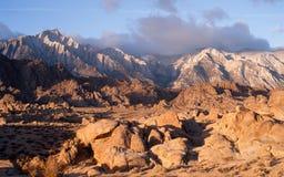 Golden Alpine Sunrise Alabama Hills Sierra Nevada Range Californ Royalty Free Stock Image