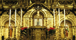 Golden Altar Royalty Free Stock Photography