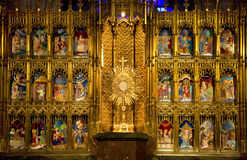Golden Altar Temple of Atonement Guadalajara Royalty Free Stock Photo