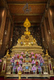 Golden altar at the Wat Pho temple in Bangkok Stock Images