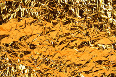 Golden Aluminum Foil Royalty Free Stock Photography