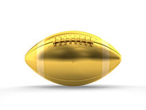 Golden american football Stock Images