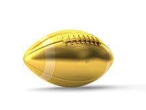 Golden american football Royalty Free Stock Photos