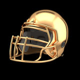 Golden American football helmet Stock Photography