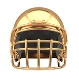 Golden American football helmet Isolated Royalty Free Stock Photos
