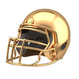 Golden American football helmet Royalty Free Stock Photos