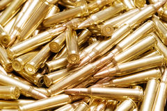 Golden ammo background Stock Images