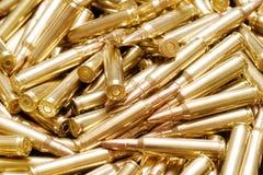 Golden ammo background Stock Images