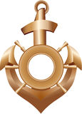 Golden Anchor Royalty Free Stock Photos