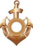 Golden Anchor Royalty Free Stock Photos