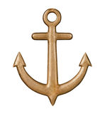 Golden anchor Stock Photography