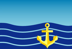 Golden anchor Stock Image