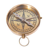 Golden ancient compass Royalty Free Stock Image