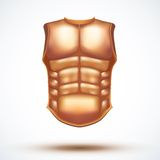 Golden ancient gladiator body armor Royalty Free Stock Photos
