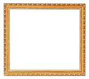 Golden ancient wooden picture frame Stock Photography