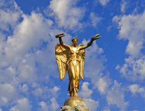 Golden Angel Stock Photo