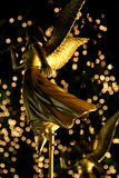 Golden angel. A golden angel decoration at Xmas time Stock Photos