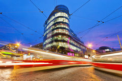 The Golden Angel centre Prague, Czech republic Stock Photos