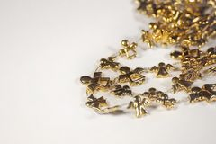 Golden angel chain stock images