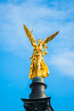 The golden angel of peace  Friedensengel   in Munich Royalty Free Stock Photos