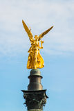 The golden angel of peace  Friedensengel Stock Photography