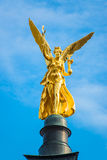 The golden angel of peace  Friedensengel Stock Photos
