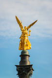 The golden angel of peace Friedensengel in Munich Stock Photo