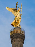 Golden angel of the Siegessaeule Victory Column Royalty Free Stock Image