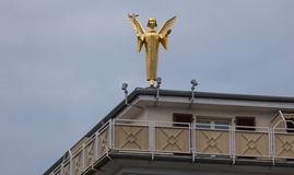 Golden angel statue in giessen germany Royalty Free Stock Photography