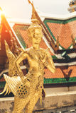 Golden angel statue of Temple of the Emerald Buddha Wat pra kae Royalty Free Stock Photos