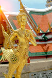 Golden angel statue of Temple of the Emerald Buddha Wat pra kae Royalty Free Stock Image