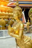Golden angel statue of Temple of the Emerald Buddha Wat pra kae Royalty Free Stock Photography