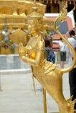 Golden angel statue of Temple of the Emerald Buddha Wat pra kae Royalty Free Stock Photo