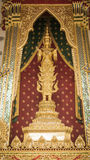 Golden angel statue and  Thai art architecture detail main ordination hall in Wat Arun buddhist temple , Thailand Stock Photos