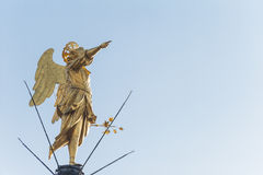 Golden Angel statue. Royalty Free Stock Image