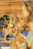 Golden Angel Statue at Wat Phra Kaew in Bangkok Stock Images
