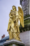 Golden angel  statue  in Zagreb ,Croatia Stock Image