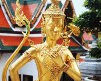 Golden angel. Temple good feel smile happy morning Stock Photography