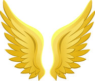 Golden Angel Wings/eps royalty free illustration