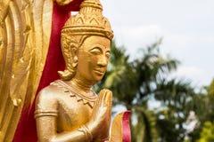 Golden Angle at Temple. Ubonratchathani Thailand Royalty Free Stock Images