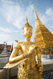 Golden Angle at Wat Phra Kaeo Stock Image