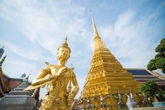 Golden Angle at Wat Phra Kaeo Royalty Free Stock Image