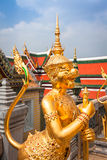 Golden Angle at Wat Phra Kaeo, Temple of the Emerald Buddha and Royalty Free Stock Photos