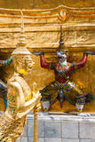 Golden Angle at Wat Phra Kaeo, Temple of the Emerald Buddha and Royalty Free Stock Photo