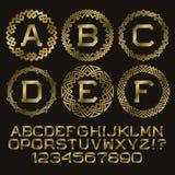 Golden angular monogram kit. Stock Photography