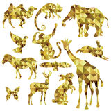Golden animal profile Royalty Free Stock Images