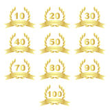 Golden anniversary icons Royalty Free Stock Photo