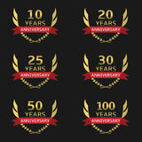 Golden Anniversary labels Stock Images