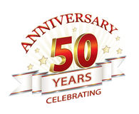 Golden anniversary of 50 years Royalty Free Stock Images